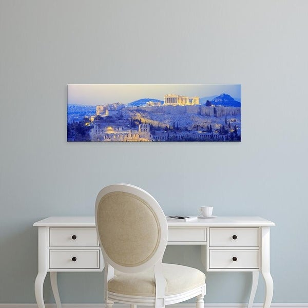 Easy Art Prints Panoramic Images's 'Acropolis, Athens, Greece' Premium Canvas Art