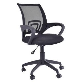 Costway Ergonomic Mid-back Mesh Computer Office Chair Desk Task Task Swivel Black