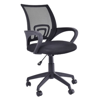 Costway Ergonomic Mid Back Mesh Computer Office Chair Desk Task Task Swivel  Black