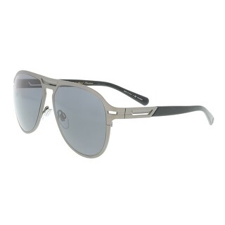 Bulgari BV5043TK 204081 Matte Grey Plated Aviator Sunglasses - 57-14-145