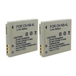 New Replacement Battery For Canon NB-4L Camera Models 2 pack