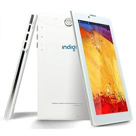 """Indigi® 7.0"""" DualSim 3G Unlocked 2-in-1 Android 4.4 SmartPhone + TabletPC AT&T / T-Mobile Compatible (White)"""