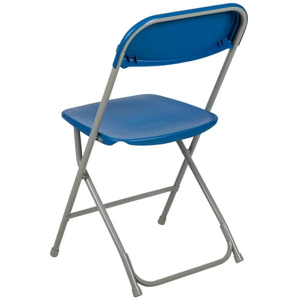 650 Lbs Capacity Commercial Quality Blue Plastic Folding Chairs 100 PACK