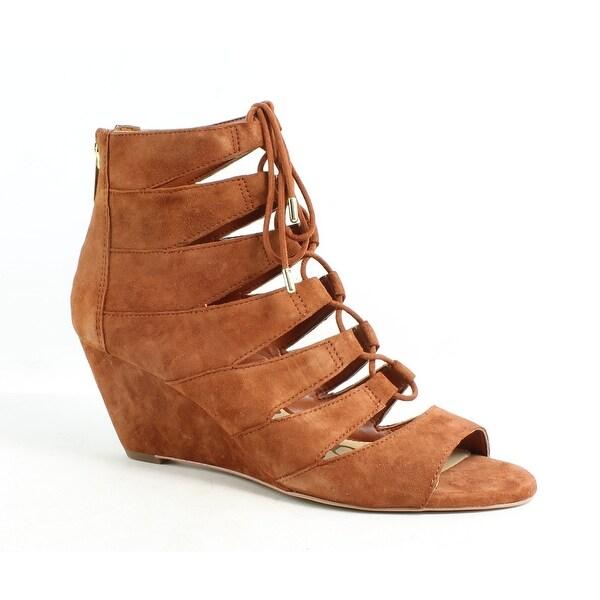 7a34f5ad76135 Shop Sam Edelman Womens Santina Cinnamon Suede Sandals Size 6.5 ...