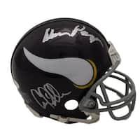 Purple People Eaters Autographed Minnesota Vikings Mini Helmet PPE JSA