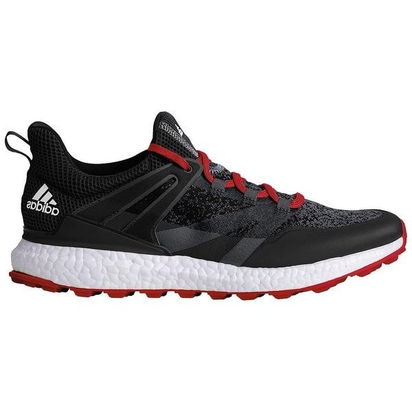 Shop Adidas Men S Crossknit Boost Black Onix Scarlet Golf Shoes Q44684 Overstock 26280631