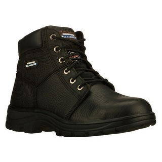 Skechers 77009 BLK Men's RELAXED FIT-WORKSHIRE ST Work WIDE