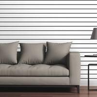"Circle Art Group Removable Wallpaper Tile - Horizontal Pinstripes - Multi-color - 24"" x 48"""