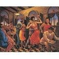 ''Roadhouse Sunrise'' by Sarah Jenkins African American Art Print (16 x 20 in.)