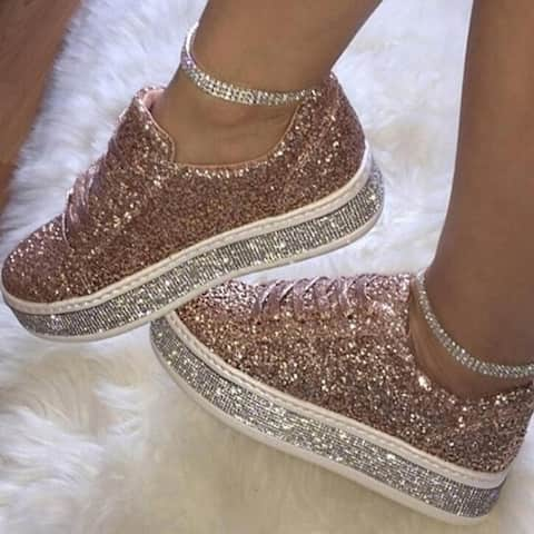Sparkly Stars Platform Sneakers