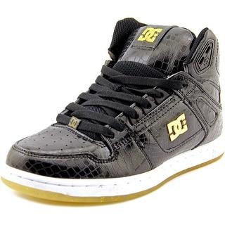 DC Shoes Rebound High Men Round Toe Leather Black Skate Shoe