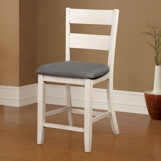 Link to The Gray Barn Lyndale Farmhouse White Counter Chairs (Set of 2) Similar Items in Dining Room & Bar Furniture