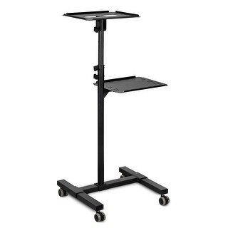 Mount-It! Height Adjustable Mobile Projector Stand Cart, Black - MI-7943