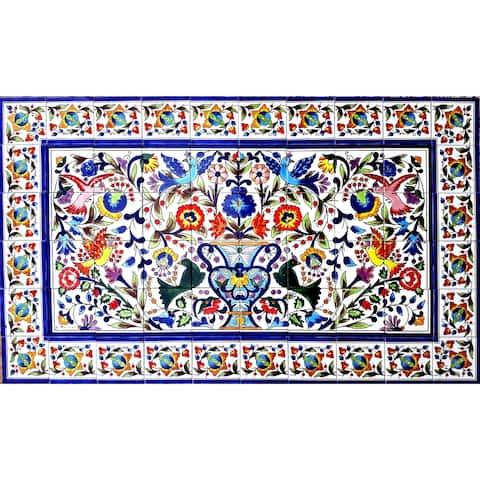 60in x 36in Kitchen Backsplash Design 60pc Tile Ceramic Wall Mural