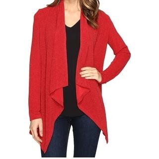 Calvin Klein NEW Red Women's Size Medium M Metallic Cardigan Sweater