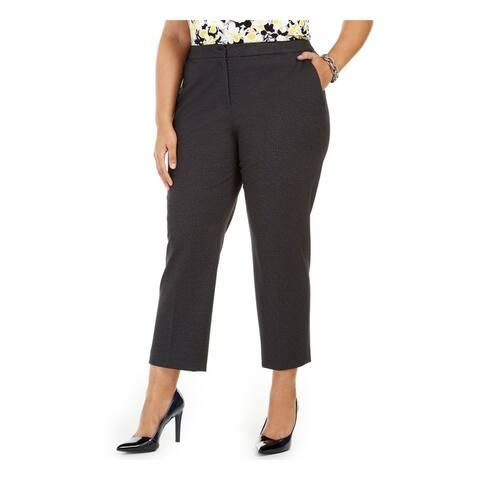 KASPER Womens Gray Heather Straight leg Pants Size 20W