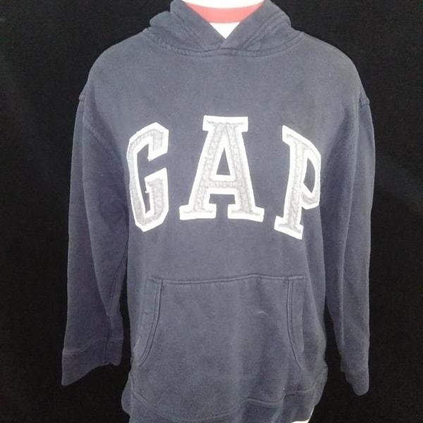 536f15bde Shop Gap Kids boys sweatshirt hoodie Size XL 12 black gray logo ...