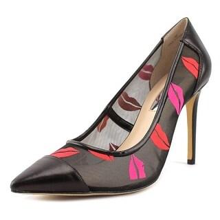 INC International Concepts Kanaa Women Pointed Toe Leather Heels
