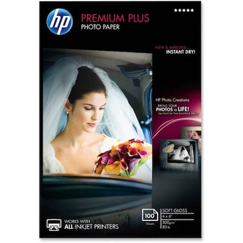Hp inc. cr666a hp prem plus 4x6 sg 100 sht photo paper