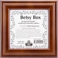 """Mahogany Betsy Square Box 8""""X8""""X2.75""""-Design Area 5""""X5"""""""