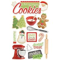 Paper House STDM92E 3D Cardstock Stickers - Christmas Cookies