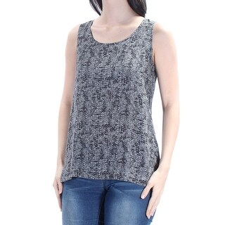 EILEEN FISHER Womens Black Sleeveless Scoop Neck Wear To Work Top Petites Size: S