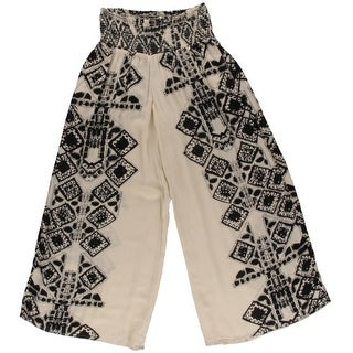 Free People Womens Smocked Geo Palazzo Pants - XS