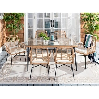 Link to Safavieh Outdoor Beson 7-Piece Dining Set Similar Items in Patio Furniture
