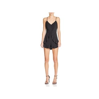 Mustard Seed Womens Romper Ruffled Spaghetti Straps (2 options available)