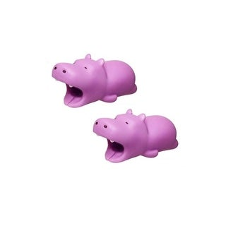iPhone & Android Cable Protectors Animal Biters - 2pk Hippo