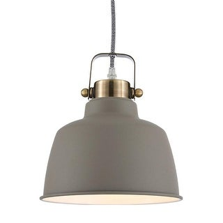 Ohr Lighting Metal Lighting industrial Pendant Brushed Nickel Matte