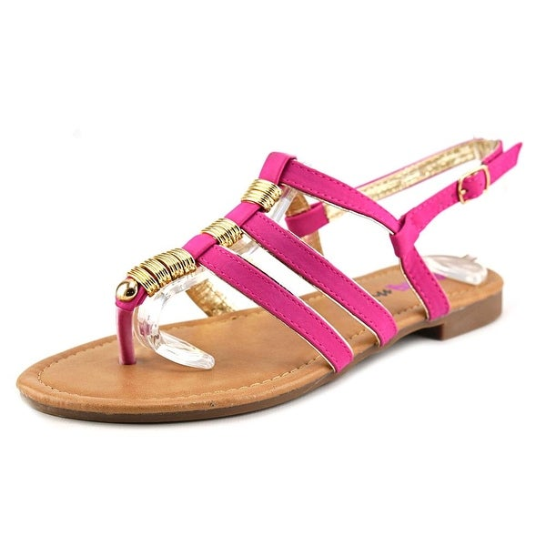 Dollymix Ella-40 Women  Open-Toe Synthetic  Slingback Sandal