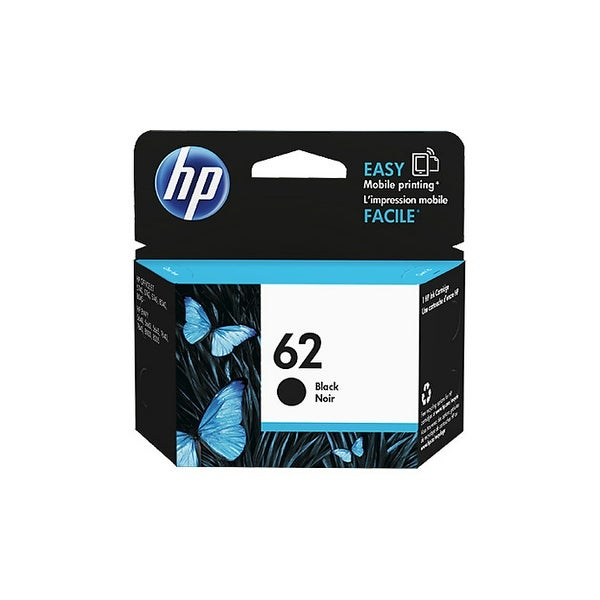 HP 62 Black Original Ink Cartridge (C2P04AN) (Single Pack) HP 62 Ink Cartridge - Black - Inkjet - 20