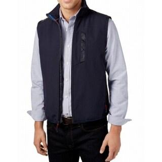 Tommy Hilfiger NEW Blue Men Medium M Full-Zip Fleece Windbreaker Vest