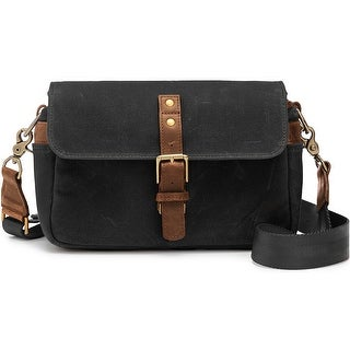 ONA Bowery Classic Camera Bag/Insert, Black, Waxed Canvas with Leather Strap