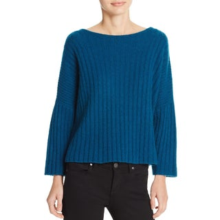 360 Sweater Womens Crop Sweater Cashmere Ribbed - XS