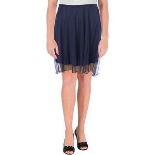 Speechless Womens Juniors A-Line Skirt Mesh Hi-Low - 7