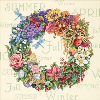 Gold Collection Wreath Of All Seasons Counted Cross Stitch K