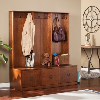 Link to Parton Wood Entryway Hall Tree and Bench Similar Items in Home Office Furniture