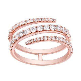 Beautuful 0.90 TCW G-H/SI1 Natural Diamond Stylist Anniversary Ring - White G-H