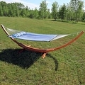 Sunnydaze Wooden Curved Arc Hammock & Hammock Stand, 13 Feet Long, 400 Pound Capacity - Thumbnail 20