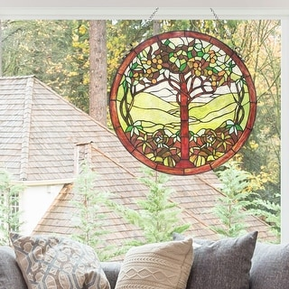 "Link to River of Goods 24""H Tree of Life Stained Glass Window Panel Similar Items in Wall Coverings"