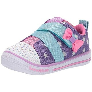 Skechers Kids Girls' Twinkle Play-Sparkle Shines Sneaker, Purple/Pink, 5.5 Medium Us Toddler