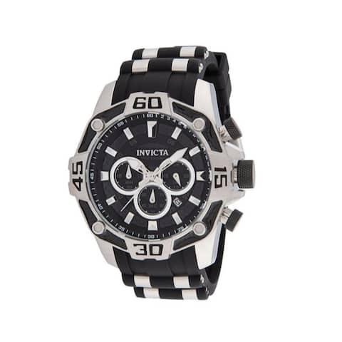 Invicta Men's Pro Diver 33834 Black Stainless-Steel Quartz Diving Watch - Multicoloured