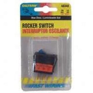 Calterm 40340 Rocker Glow Switch, 20 Amp, Blue