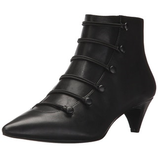 Nine West Womens zadan Leather Pointed Toe Ankle Fashion Boots