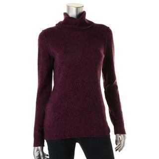 Aqua Womens Cashmere Ribbed Trim Pullover Sweater