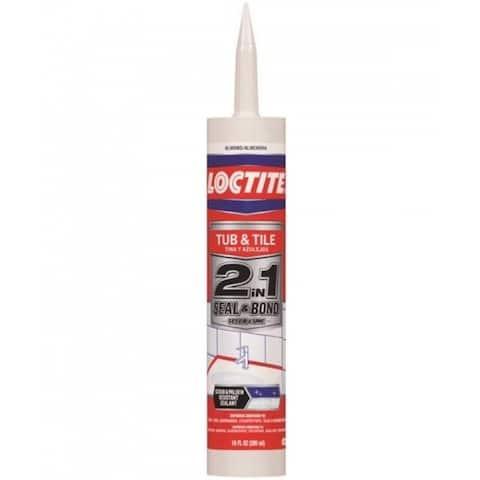 Loctite 2154752 2-In-1 Seal & Bond Tub & Tile Adhesive Caulk, 10 Oz