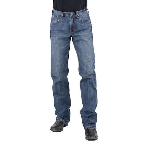 Stetson Western Denim Jeans Mens Whiskered Dark