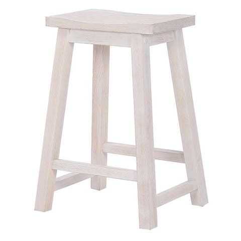 "Tylor 24""Saddle Seat Counter Height Bar Stool"